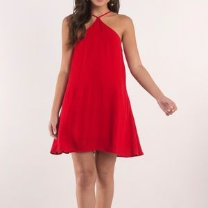 TOBI Red Halter Swing Dress Medium